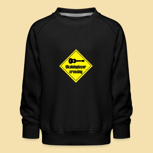 Uke player crossing - Kinder Premium Pullover