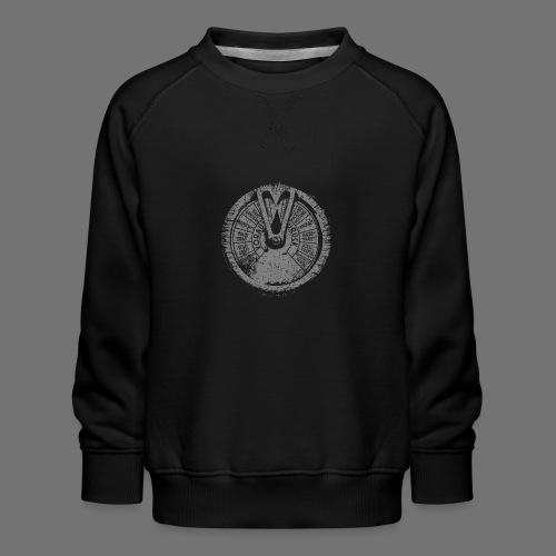Maschinentelegraph (grå oldstyle) - Børne premium sweatshirt
