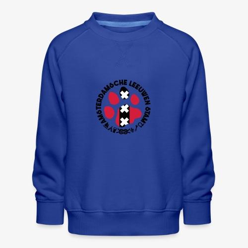ALS witte cirkel lichtshi - Kinderen premium sweater