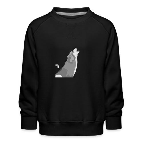 Wolf heulend - Kinder Premium Pullover