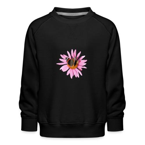 TIAN GREEN Garten - Sonnenhut Schmetterling - Kinder Premium Pullover
