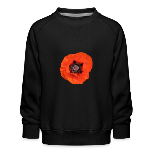 TIAN GREEN - Mohn Blume - Kinder Premium Pullover