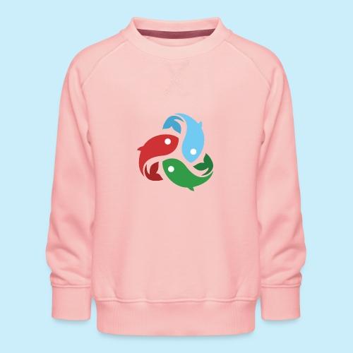 De fiskede fisk - Børne premium sweatshirt
