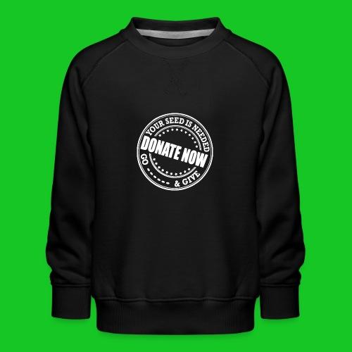 Doneer nu - Kinderen premium sweater