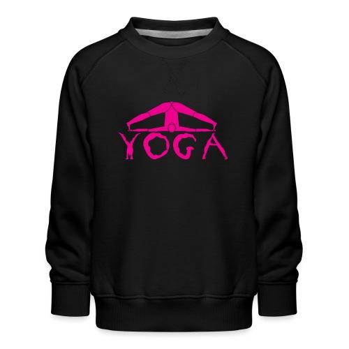 yoga yogi viola spiritualità amore namaste sport - Felpa premium da bambini