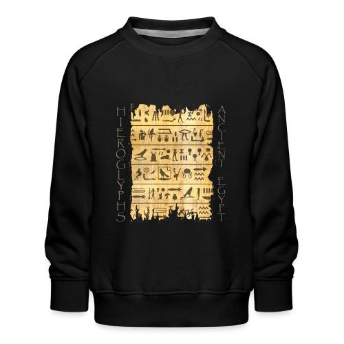 ausgerissener Papyri mit Hieroglyphen - Kinder Premium Pullover