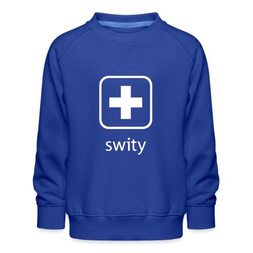 Schweizerkreuz-Kappe (swity) - Kinder Premium Pullover