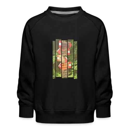 De verwarde hike - Kinderen premium sweater