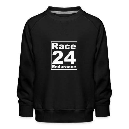 Race24 Logo - White - Kids' Premium Sweatshirt