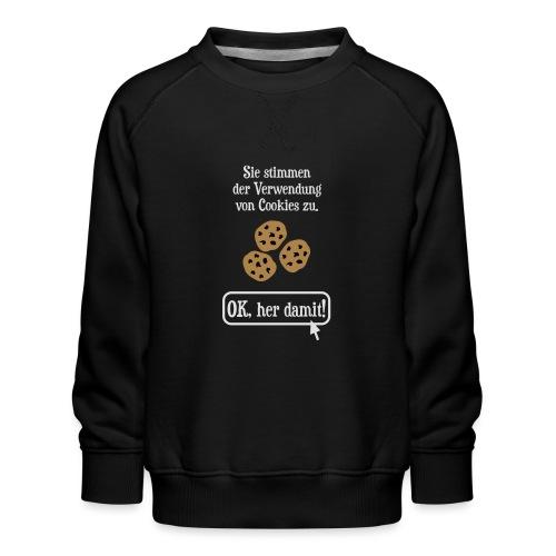 Cookie Hinweis Internet Nerd Spruch - Kinder Premium Pullover
