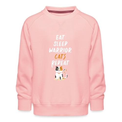 Eat sleep warrior cats repeat - Sweat ras-du-cou Premium Enfant