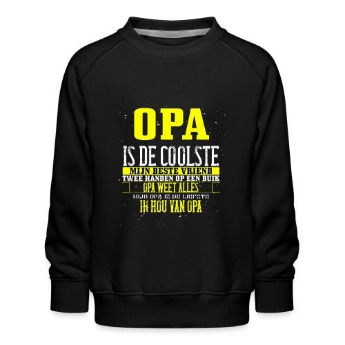 opa is de coolste - Kinderen premium sweater