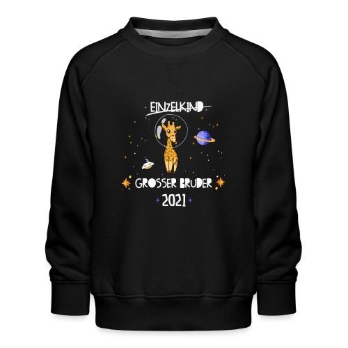 Großer Bruder 2021 Astronauten Giraffe Planeten - Kinder Premium Pullover