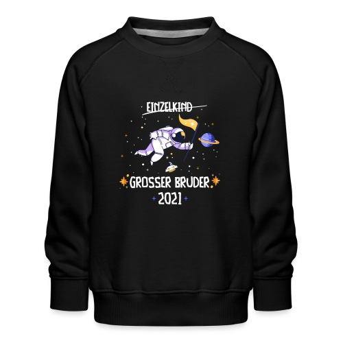 Großer Bruder 2021 Astronauten Astronaut Planeten - Kinder Premium Pullover