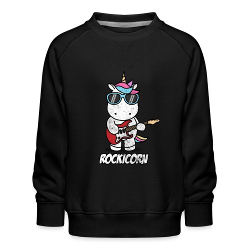 Rockicorn Rock n Roll Unicorn Einhorn Geschenkidee - Kinder Premium Pullover
