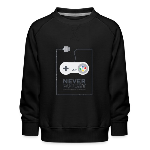 Never Forget 1990 Gaming Retro Gamer Geschenk - Kinder Premium Pullover