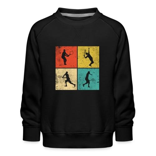 Tennis Tennisspieler Retro Geschenk - Kinder Premium Pullover
