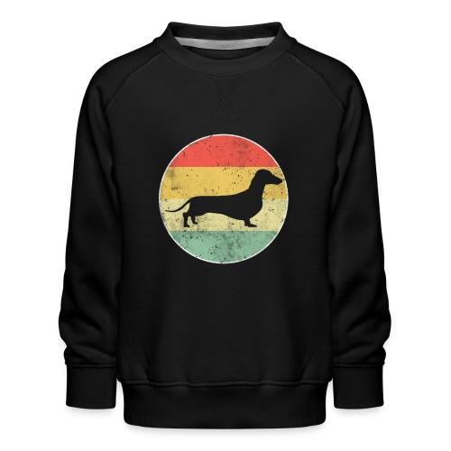 Dackel Dachshund Hundehalter Geschenk - Kinder Premium Pullover