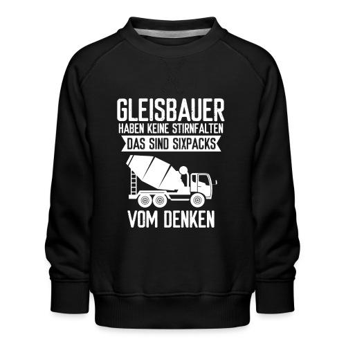 Gleisbauer Sixpacks vom Denken Schienenarbeiter - Kinder Premium Pullover