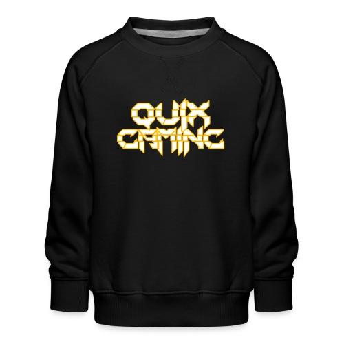 QuixGaming Simple Design - Børne premium sweatshirt