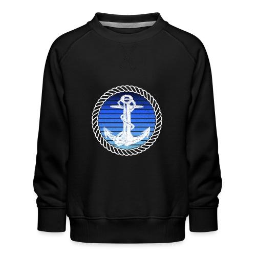 Anker maritimer Retrokreis Geschenkidee - Kinder Premium Pullover