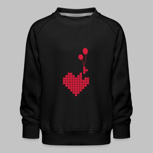 heart and balloons - Kids' Premium Sweatshirt