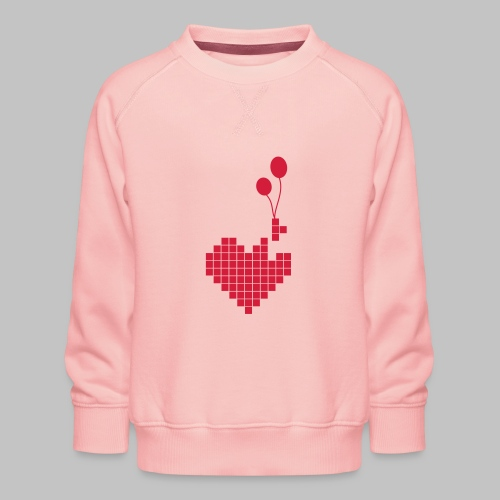 heart and balloons - Kids' Premium Sweatshirt