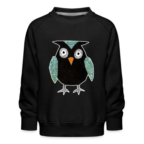 Collage mosaic owl - Kids' Premium Sweatshirt