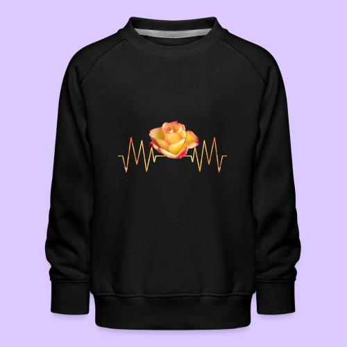 Rose, Herzschlag, Rosen, Blume, Herz, Frequenz - Kinder Premium Pullover