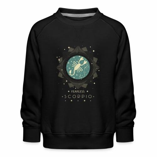 Sternzeichen Furchtloser Skorpion Oktober November - Kinder Premium Pullover