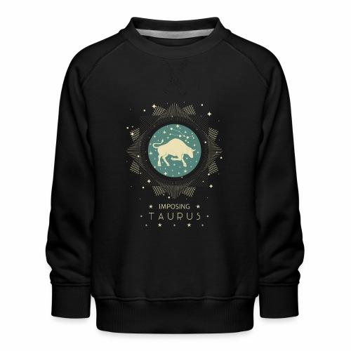 Sternzeichen Taurus - Imposanter Stier April Mai - Kinder Premium Pullover
