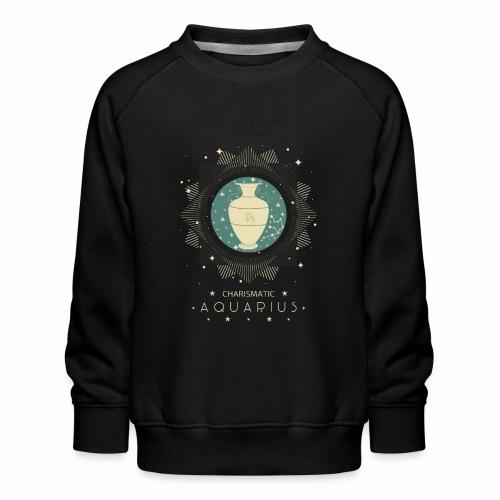 Sternzeichen Wassermann Aquarius Januar Febbruar - Kinder Premium Pullover