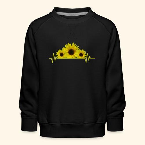 Sonnenblumen Herzschlag Sonnenblume Blumen Blüten - Kinder Premium Pullover