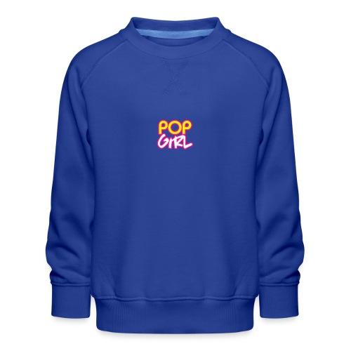 Pop Girl logo - Kids' Premium Sweatshirt