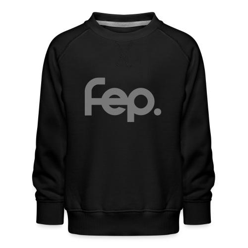 FEP logo gray - Kids' Premium Sweatshirt