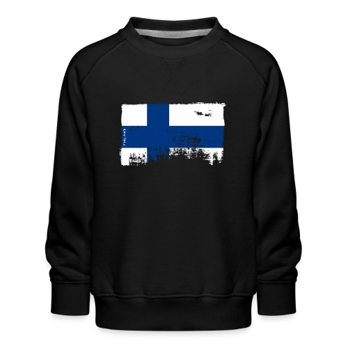 Suomen lippu, Finnish flag T-shirts 151 Products - Lasten premium-collegepaita