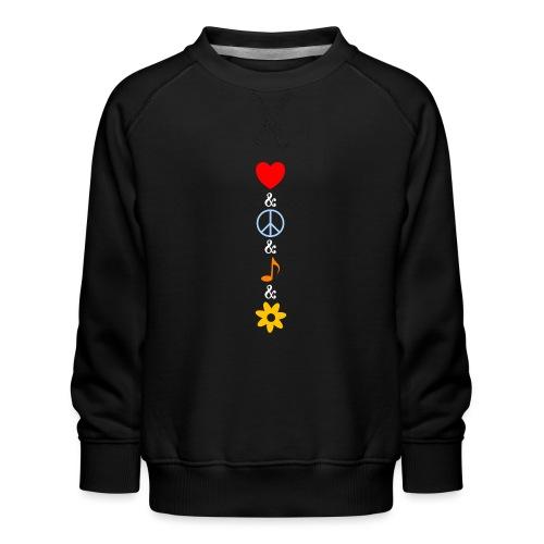 Love Peace Music Flower Hippie Summer - Kinder Premium Pullover