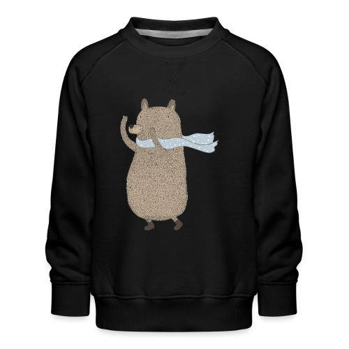 Fluffy Cuddle Bear by #OneCreativeArts - Kinder Premium Pullover
