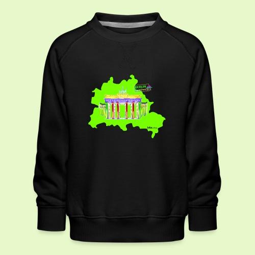 Berlin ist grün und bunt / BerlinLightShow - Kinder Premium Pullover