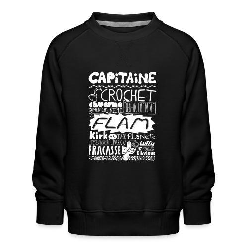 capitaine-blanc Tee shirts - Sweat ras-du-cou Premium Enfant