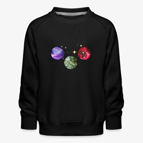 Planets Colourful Cosmic Art by patjila - Kids' Premium Sweatshirt