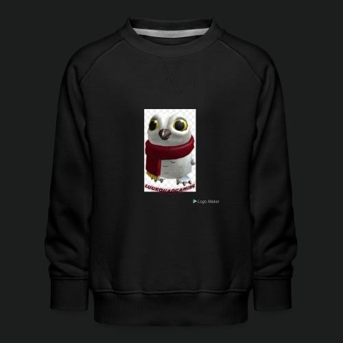 Merch white snow owl - Kinderen premium sweater
