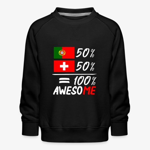50% Portugal 50% Schweiz - Kinder Premium Pullover