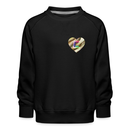 Chris could be crossed by colorful continous C's - Kids' Premium Sweatshirt