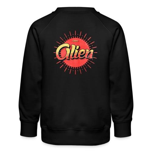 Alien Vintage Logo - Premium-genser for barn