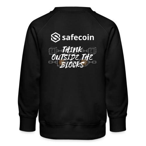 Safecoin Think Outside the Blocks (white) - Kids' Premium Sweatshirt