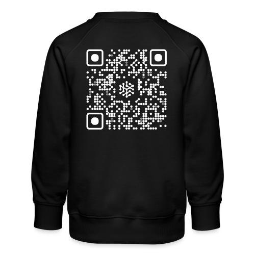 QR Safenetforum White - Kids' Premium Sweatshirt