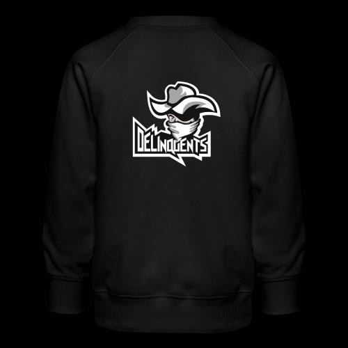 Delinquents Hvidt Design - Børne premium sweatshirt