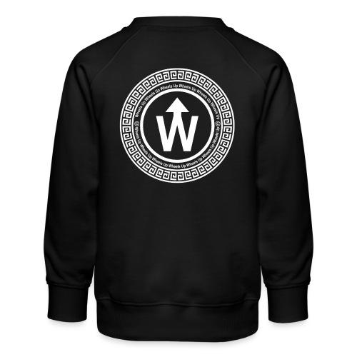 wit logo transparante achtergrond - Kinderen premium sweater