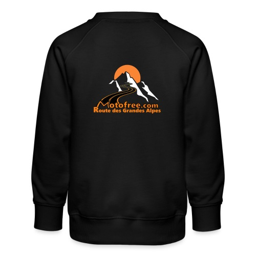 logo motofree orange - Sweat ras-du-cou Premium Enfant